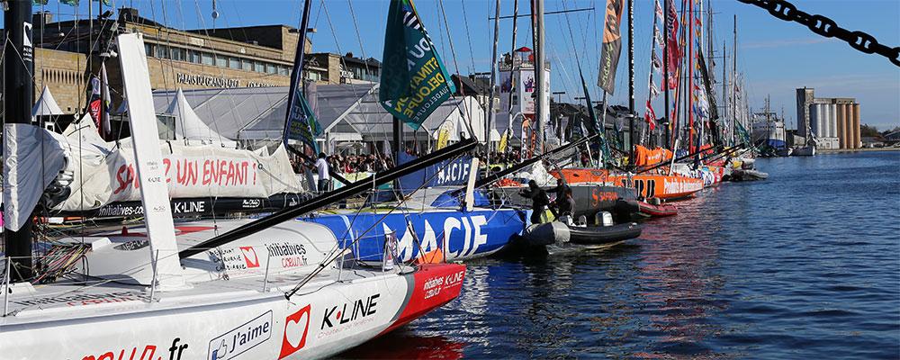 Course bateaux à voiles au départ de la Bretagne