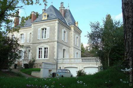 Luxury chateau rental France with pool, golf.