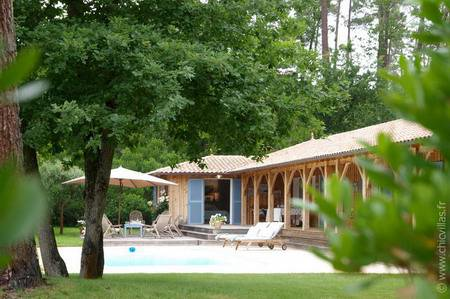 French villa with pool in Cap Ferret : La Muse du Bassin