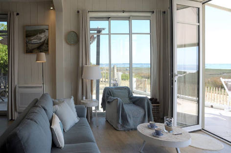Seafront rental villa in Arcachon Bay