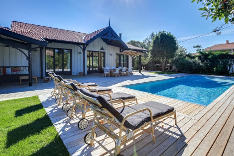 Villa with pool for rent in Cap Ferret