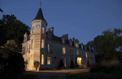 Pearl of Loire Valley, castle with a pool in the Loire Valley