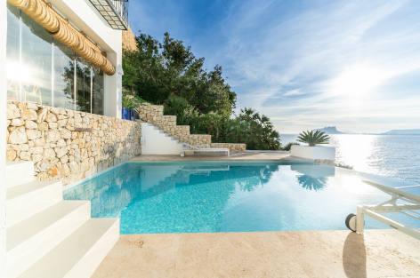 Location de villa en bord de mer en Espagne, Sublime Moraira