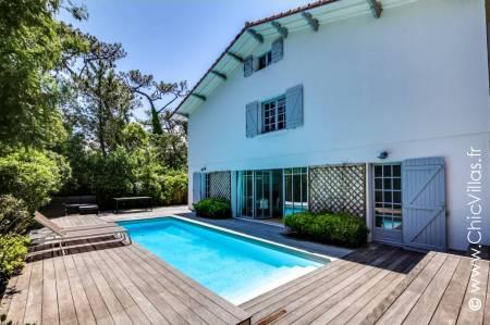 Rental villa with a pool - Ambiance Cap Ferret