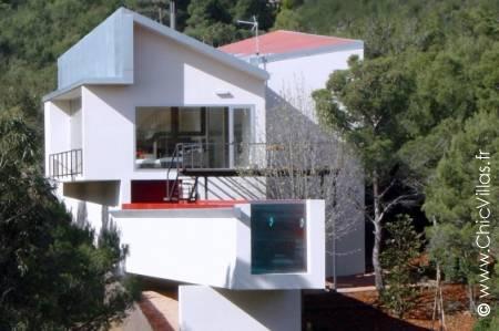 Luxury rental villa on the Costa Brava nestled in the pine trees