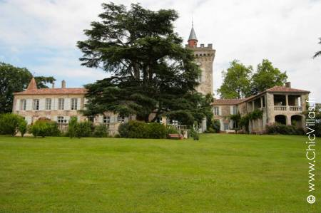 Chateau Heart of Gascony, luxury chateau for rent in France