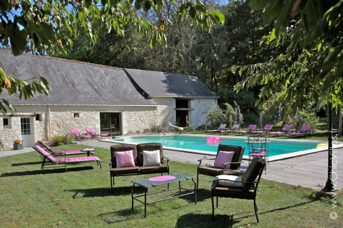Location villa de grande capacité dans la vallée de la Loire