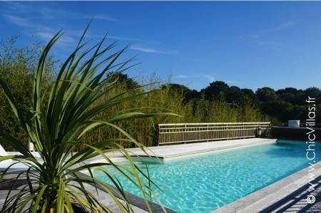 Charming villa rental France with heated pool.