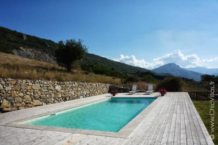 Location villa avec vue sur les sommets de Provence