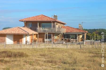 Plage des Landes, beachfront villa on the Atlantic Ocean