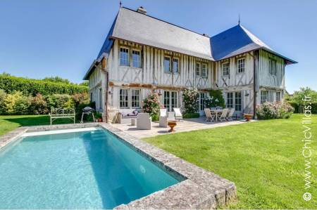 Beautiful rental villa near Deauville: True Normandy